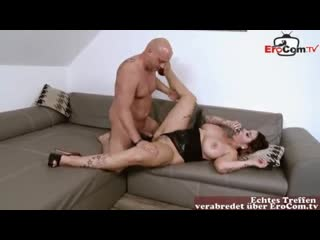 german housewife with big natural tits seduces and a guy for fuck in pierced pussy