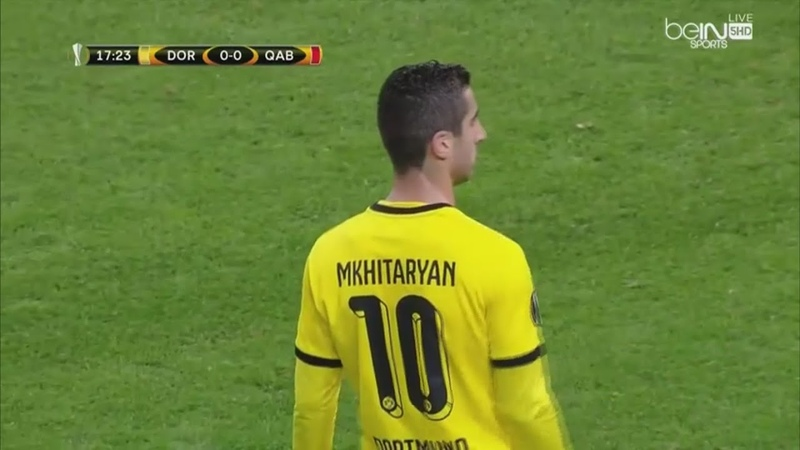 Henrikh Mkhitaryan vs FK Qäbälä Home 05 11 2015