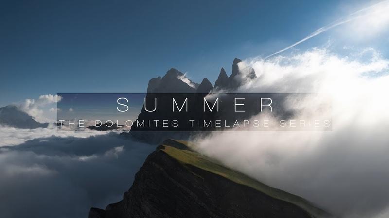 SUMMER DOLOMITES 8K TIMELAPSE