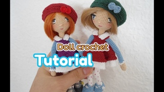 How to crochet a doll girl / small doll crochet