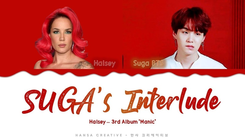 Halsey ft SUGA (BTS) - SUGA's Interlude Lyrics Color Coded (Han/Rom/Eng)