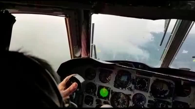 Работа по тушению пожаров в Братске МЧС России