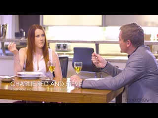 SexyHub - Redhead rides him on dinner table / Charlie Red