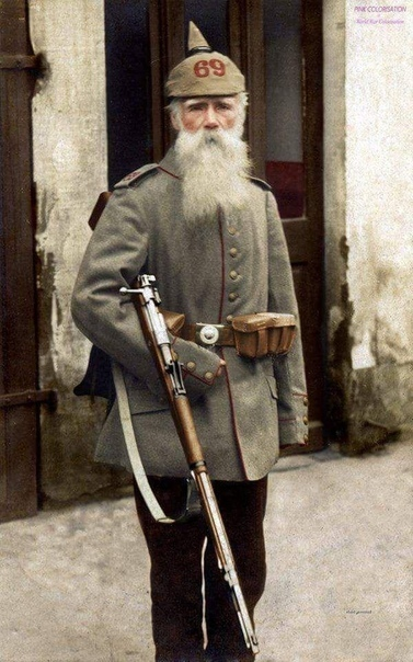 Ветеран Франко-Прусской войны ,фото 1936 года.