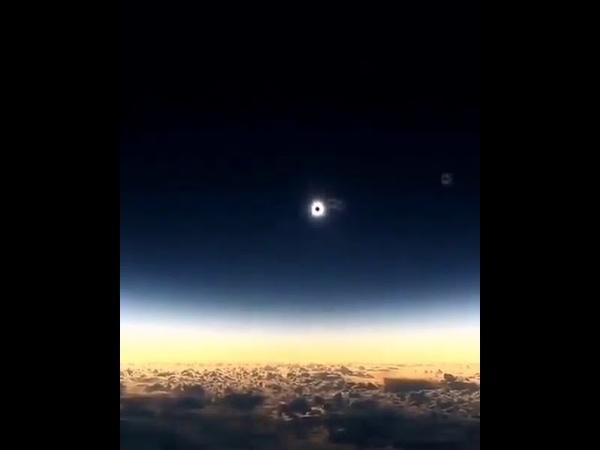 Солнечное затмение 2 июля 2019 года Съёмка с самолёта