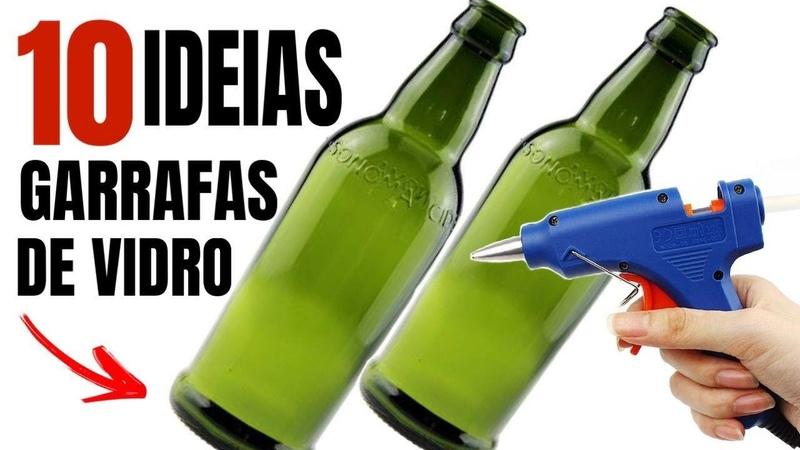 10😱GARRAFAS DE VIDRO DECORADAS IDEIAS PARA DECORAR