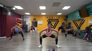 Yvette Bachman - 60 Minute Metabolic Cardio & Bodyweight Blast | Тренировка на укрепление мышц и похудение (кардио + силовые упражнения с гантелями)