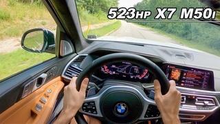 Brutally Quick 3 Row Limo SUV - 2020 BMW X7 M50i POV Drive