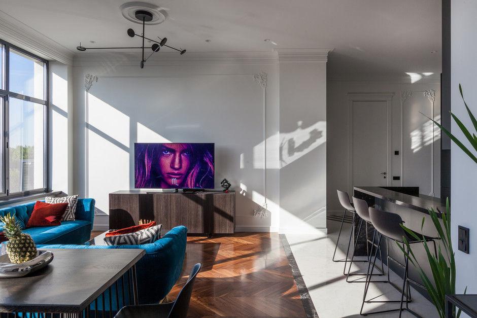 Квартира 110 м² для холостяка в Минске от студии Interra || 01