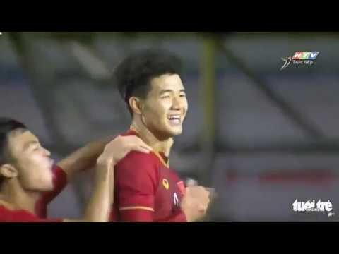 Hà Đức Chinh với 3 bàn thắng Xem lại 4 bàn thắng của Việt Nam vào lưới Campuchia