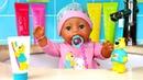 Видео игры для детей - Кукла БЕБИ БОН купается и чистит зубки! - Мультики для детей с Baby Born