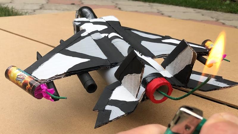 Rocket Powered Jet Fighter from Cardboard