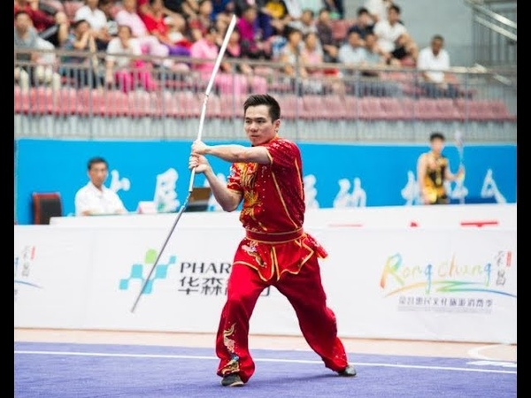 Section cudgel 男子三节棍 第一名 浙江队 王地 9.01分 zhe jiang wangdi