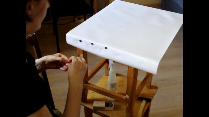 как натянуть бумагу на планшет