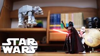 Star Wars- Moving Darth Vader's Force FX Lightsaber in Stop Motion