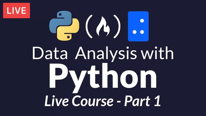 Data Analysis with Python Part 1 of 6 (Live Course)