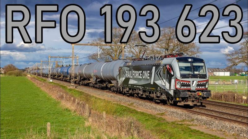 RFO 193 623 Sharky met styreentrein door Teuge 4K