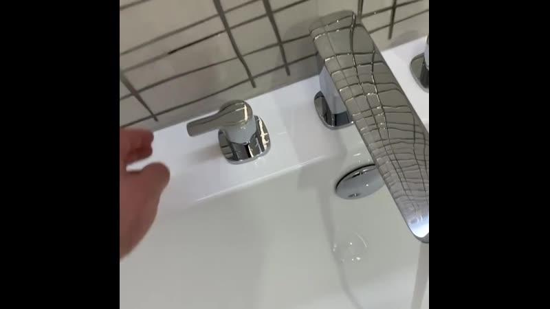 Монтаж смесителя Cezares на борт ванны