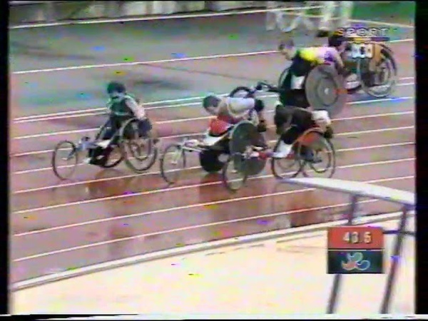 Sydney 2000 Paralympic Games Mens T52 400m Final poor quality