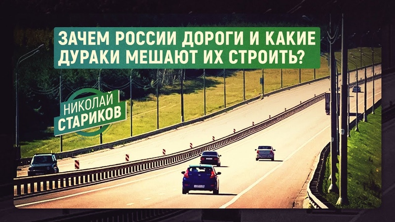 Зачем России дороги и какие дураки мешают их строить? (Николай Стариков)