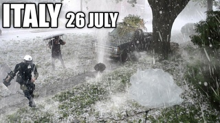 Apocalypse in ITALY! Crazy Hailstorm destroyed hundreds of cars in Milan!