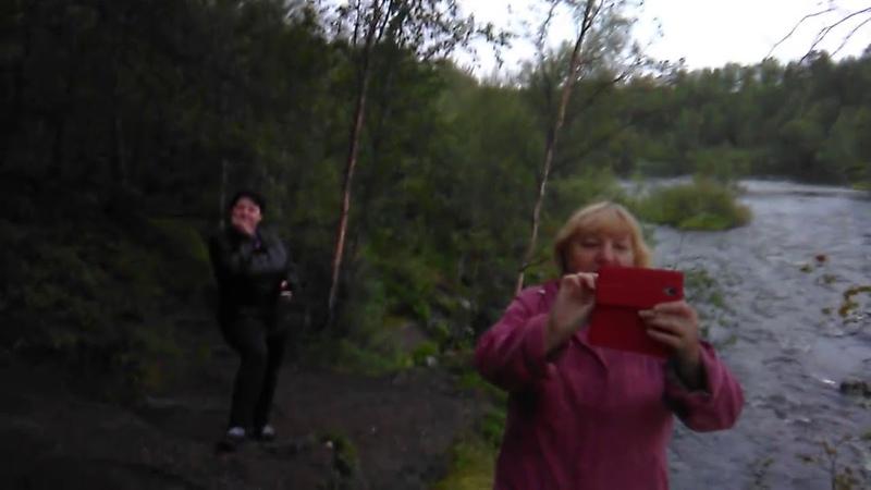 водопад на реке шуонийоки Мурманская область