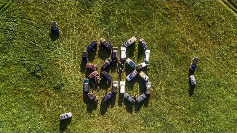 Внедорожное поздравление города Березники с 88 летием