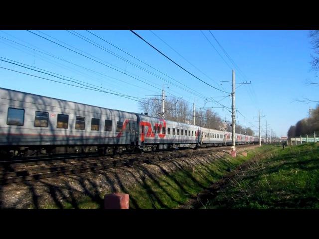 Электровоз ЧС6-020 с поездом №061А (СПб → Москва)
