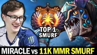 MIRACLE vs Top 1 MMR Smurf — 11K MMR Epileptick1d