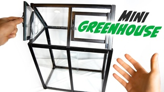 Making a MINI GREENHOUSE (Wardian Case)