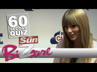 Taylor Swift | Takes the Bizarre 60 Second Quiz VERY seriously | TheSunBizarre