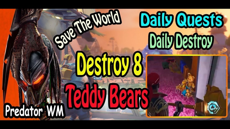 Destroy 8 Teddy Bears in successful missions ( often found in Suburban zones )