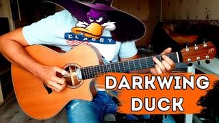 Darkwing Duck fingerstyle   Черный Плащ на гитаре