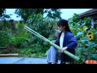 Китаянка Делает Из Бамбука Мебель И Вышивает Using Bamboo To Make Some Sophisticated Old Furniture Bamboo Sofa Lizigi Channel