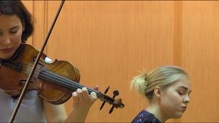 Вивальди Зима  2 ЧАСТЬ  исп. Полина Сенатулова и Анастасия Максюта