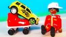 Машинки взлетают на гоночном треке - Петрович упал в желейный слайм