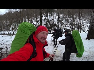 Гора Семиглавая. Зимний поход. Ночевка в палатках на снегу.