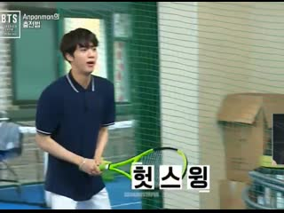THE WAY HE LOOKED SO PROFESSIONAL AT THE BEGINNING OF THE VIDEO THAT YOU'D THINK HE WAS ACTUALLY GOOD AT TENNIS BUT THEN