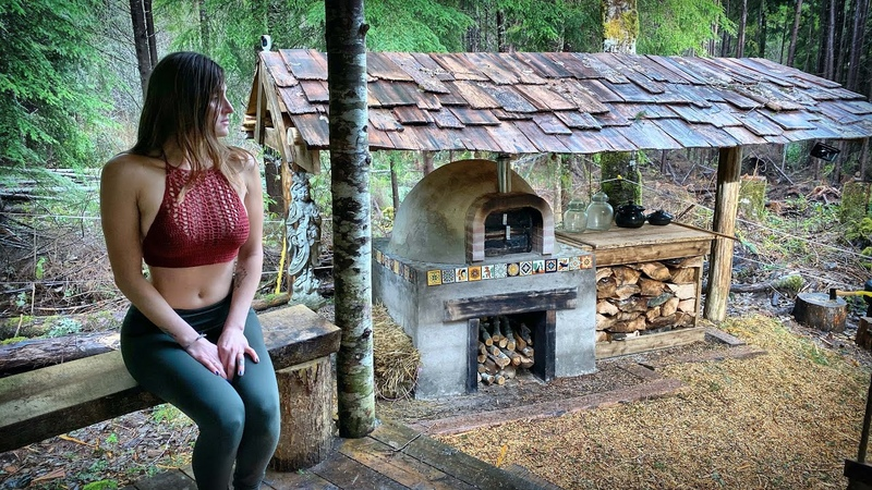 SURVIVING 100 MPH WIND STORM OFF GRID in a YURT - BRICK OVEN PIZZA | WILD PINE MUSHROOMS - Ep. 114