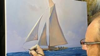 """Sailing"". Painting video lesson. Artist Igor Sakharov"