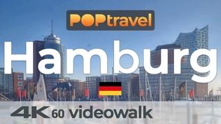 Walking in HAMBURG / Germany - Central City - 4K 60fps (UHD)