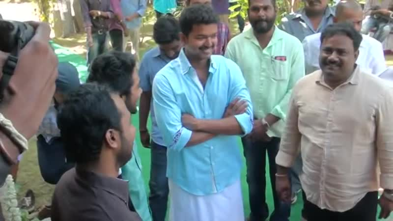Kalapulli S Thanu Recieved Atlee Attakathi Ranjith Others at Vijay 59th Movie Launch