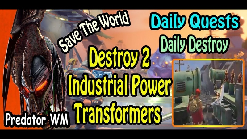 Destroy 2 Industrial Power Transformers in successful missions ( often found in Industrial zones )