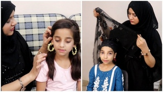 Fancy Net Hijab Tutorial & Jewellery Review , Amber Naz Official ♥️