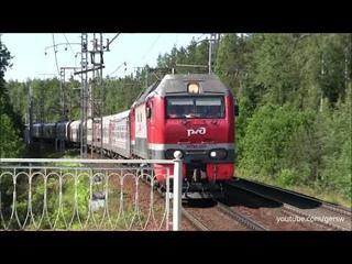Электровоз ЭП2К-225 с поездом №14  Санкт-Петербург — Новокузнецк