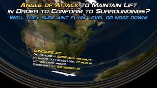 Угол атаки самолёта, притяжение, гироскоп. Вогнутая Земля.