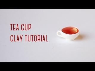 迷你檸檬茶黏土教學 Miniature Tea Cup - Polymer Clay Miniature Tutorial