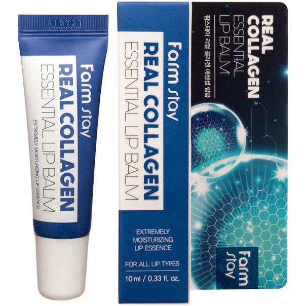 Farmstay Real Collagen Essential Lip Balm — Бальзам для губ