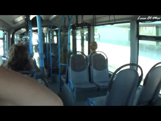 LucaXMia  Risky Public Sex In Bus With People Around