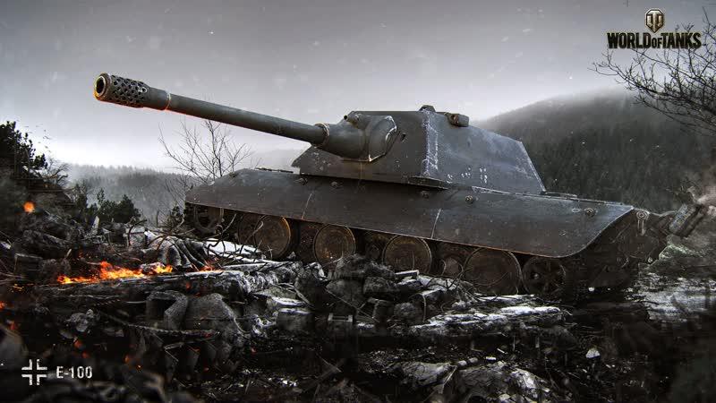 World of Tanks E100 5 Kills 10 4K Damage 720p